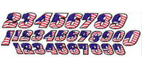 JK Pre-Cut Numbers - American Flag - JK-20031F
