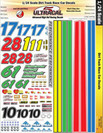 Ultracal 1/24 Dirt Track Race Car Decals - MG-3443
