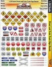 Ultracal 1/24 Street & Train Track Signs - MG-3450