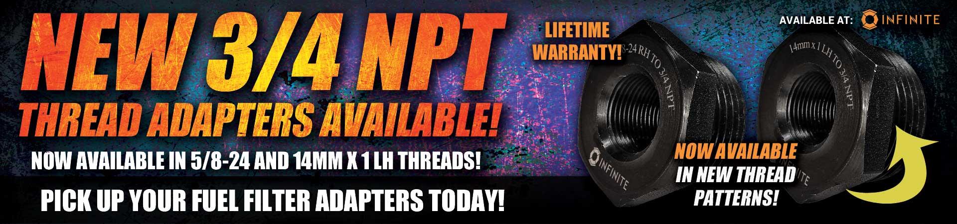 New NPT adapters!