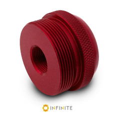 1/2-28 to D Cell Maglite Adapter - Red