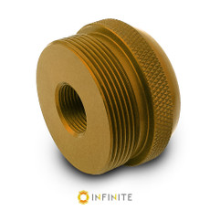 1/2-28 to D Cell Maglite Adapter - Gold