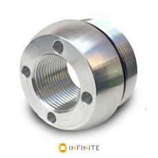 i4003 Curved End Cap - Shiny Aluminum
