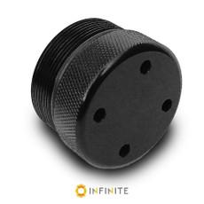 i4003 Closed Flat End Cap - Black Anodized Aluminum