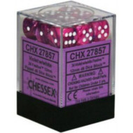 Chessex: Festive Violet/White 12Mm D6 Dice # CHX27857