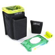 Refuse Containment System- Main Unit Kit (RCS-1K) Main bin comes with weighted sand bag, pack of wet wipes and roll of doggie poo bags.