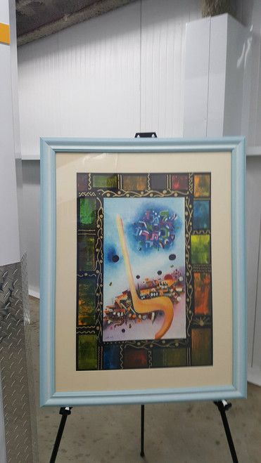 "Lamed Flowers Lithograph 16.5"" x 23.5 ""  By Victor Shrem  framed"