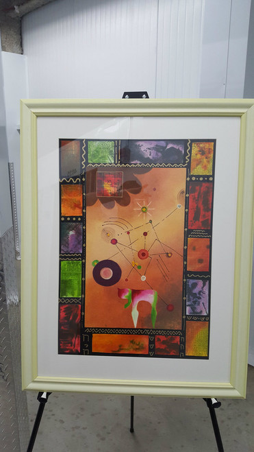 "Het Flowers 16.5"" x 23.5""   framed By Victor Shrem"