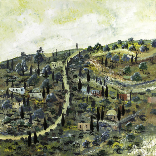 Jerusalem Landscape Original By Victor Shrem
