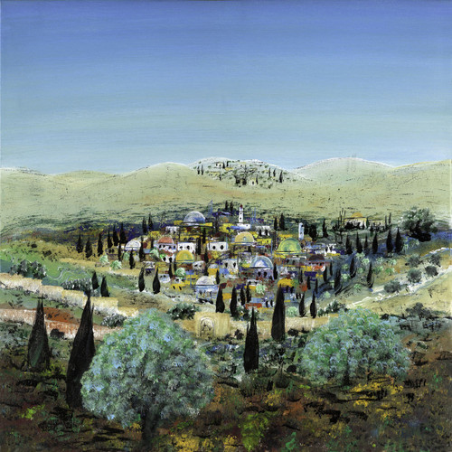 Jerusalem Landscape Original  #2 By Victor Shrem