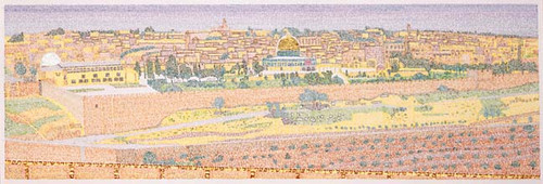 Skyline of Jerusalem Limited Edition By Menachem Boas