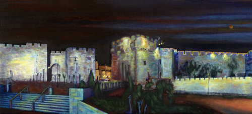 Jaffa Gate Panorama by Geula Twersky  1.5  Meters long