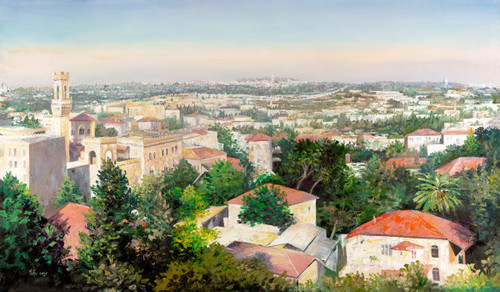 View of Jerusalem Original by Menucha Yankelevitch