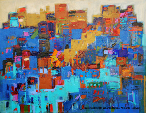 "New Jerusalem by Johanan Herson 32"" x 39"""