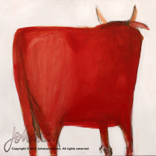 "Red Bull by Johanan Herson 28"" x 25"""