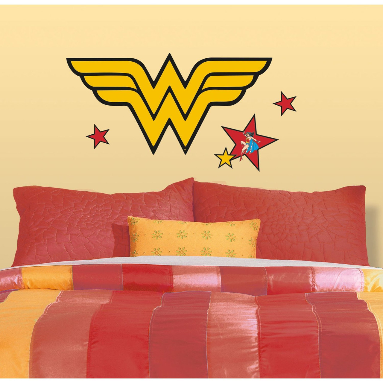 Wall Decal DC Comic Classic Wonder Woman Logo Peel/Stick Kids Art ...