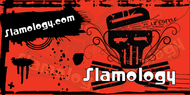 Slamology Skull Banner in Red