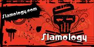 Slamology Skull Banner in Red