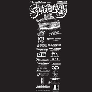 Slamology 2017 T-Shirt Front Design with Key Sponsor Logos