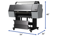 "SureColor 24"" Printer Dimensions"