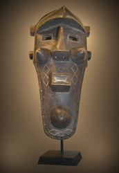 A Fine and Powerful Binji Mask, Binji Peoples,Democratic Republic of the Congo