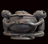 Superb Kitaya Divination Vessel, Luba Peoples, D.R. Congo