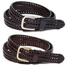 R-Leather braided belt
