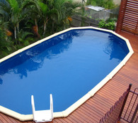 Sterns Whitsunday Oval Pool - 4.5m Wide x 1.37m Deep