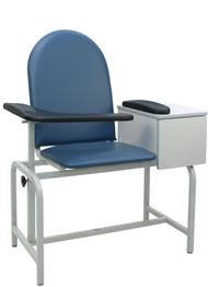 Winco 2572 Padded Blood Drawing Chair with Cabinet