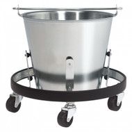 Brewer Kick Bucket Stainless Steel Pail and Mobile Frame