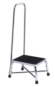 Brewer Bariatric Step Stool with Handrail, Single