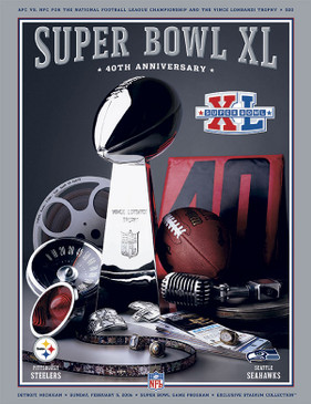OFFICIAL SUPER BOWL 40 PROGRAM (STEELERS VS. SEAHAWKS, 2006)