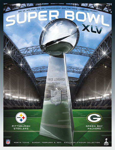 OFFICIAL SUPER BOWL 45 PROGRAM (PACKERS VS. STEELERS, 2011)