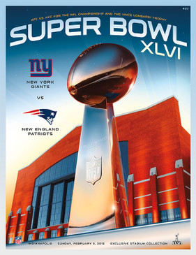 OFFICIAL SUPER BOWL 46 PROGRAM (GIANTS VS. PATRIOTS, 2012)