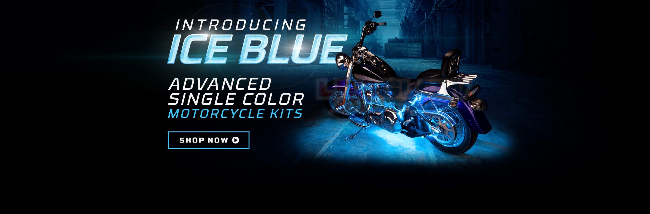 Advanced Ice Blue Motorcycle LED Lights