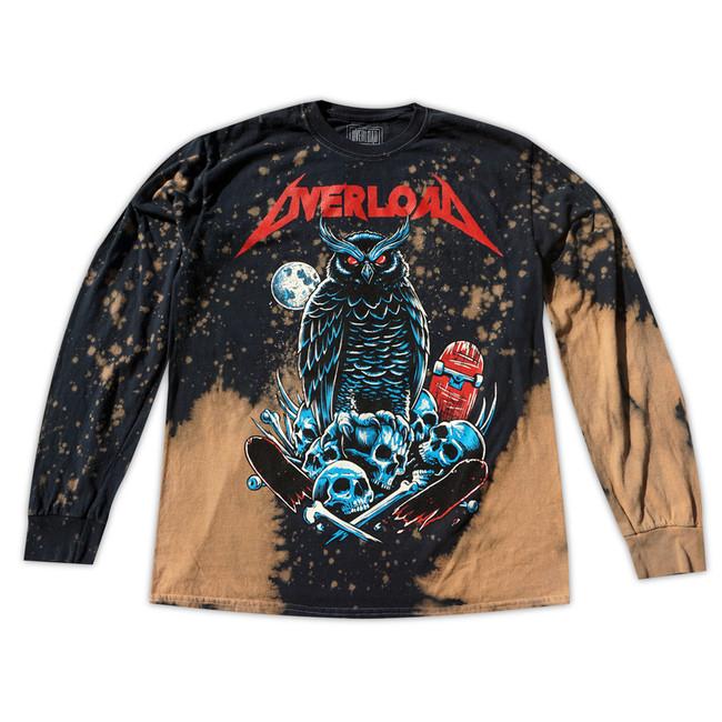 Quick View � Overload - T-Shirt - Metal - LS Brown Splatter