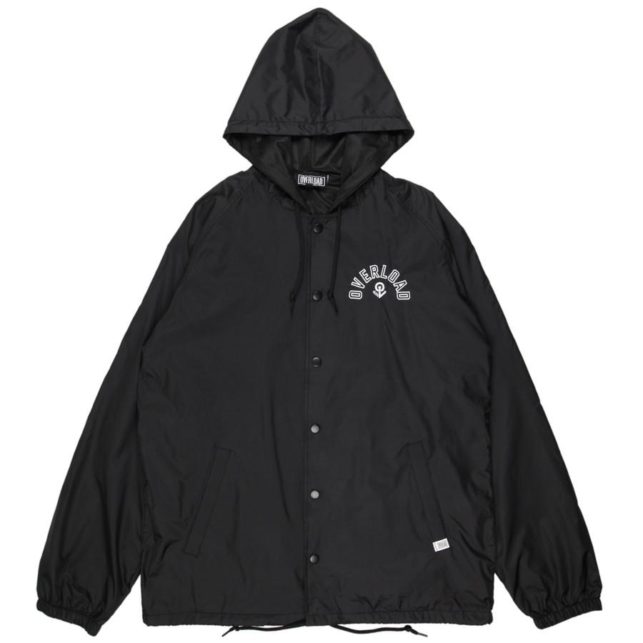 Overload - Jacket - Arc Hooded Coaches Jacket - Black