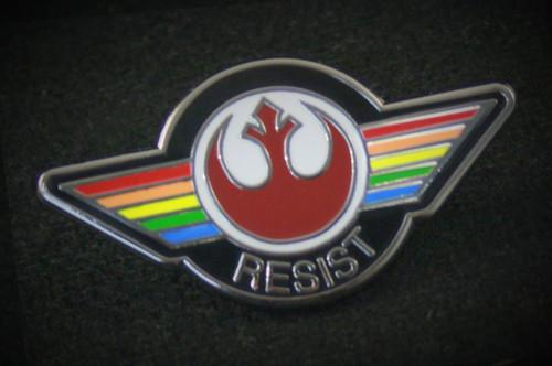 Rainbow Flag Resist Pin