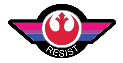 Bisexual Flag Resist Pin
