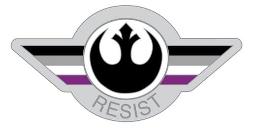 Asexual Resist Pin
