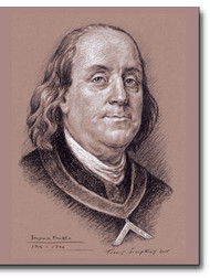 Benjamin Franklin (1706-1790) Freemason, patriot Smithsonian National Portrait by Travis Simpkins