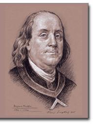 Benjamin Franklin (1706-1790) Freemason, patriot Smithsonian National Portrait by Travis Simpkins