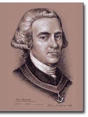 John Hancock Freemason (1737-1793) Patriot, Freemason, Boston Massachusetts by Travis Simpkins