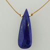 solo elongated teardrop - lapis lazuli 10c