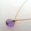 Amethyst cutie Pie Necklace with sterling accents