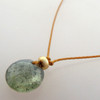 Moss Aquamarine Cutie Pie Necklace with 14kt gold fill accents
