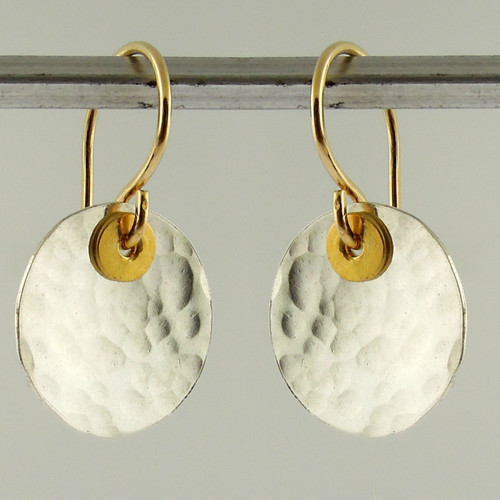 disquette 2 pebble  - 1/2'' earrings