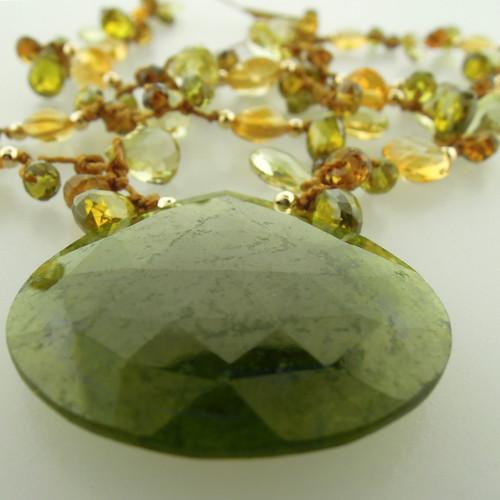 galaxy pendant - green garnet