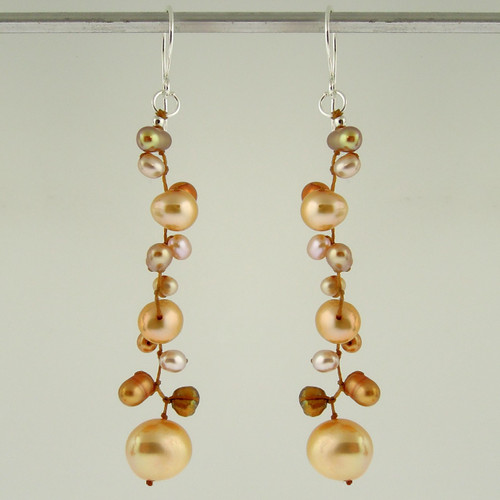 latham pearl champagne earrings