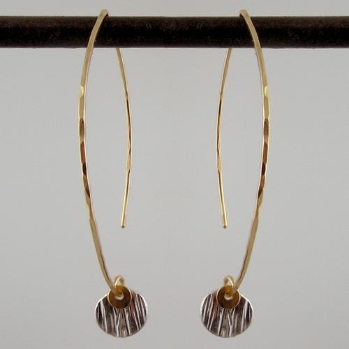 ARC dab woody SS - 1/4'' earrings